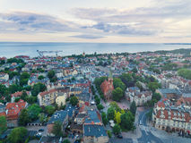 Sopot town, top view Royalty Free Stock Photo