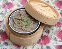 Soppa av asiatiska nudlar Arkivfoton