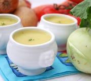 Soppa av kålrabbi Arkivbilder