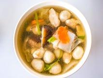 Soppa för fiskboll Fotografering för Bildbyråer