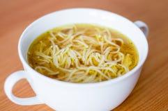 Soppa för nötköttbuljong med pasta Royaltyfri Foto