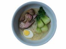 Soppa för nudel för stekgriskött Royaltyfri Bild