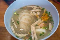 Soppa för Vietnam risnudel Royaltyfri Fotografi