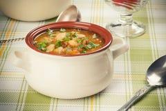 Soppa för vit böna Royaltyfri Foto