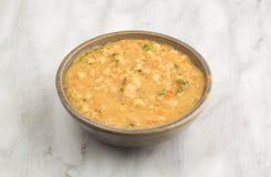 Soppa för vit böna i en bunke Arkivfoton