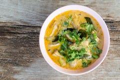 Soppa från skaldjur, bästa sikt Fotografering för Bildbyråer