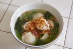 Soppa för fiskboll Royaltyfri Fotografi