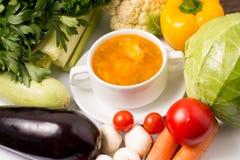 Soppa med grönsaker Royaltyfri Bild