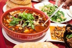 Soppa med grönsaker och peppar Royaltyfri Bild