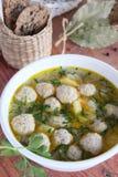 Soppa med köttbollar Royaltyfri Foto