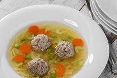 Soppa med köttbullar Royaltyfri Fotografi