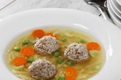 Soppa med köttbullar Royaltyfria Foton