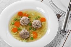 Soppa med köttbullar Royaltyfri Foto