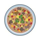 Soppaplatta Stock Illustrationer