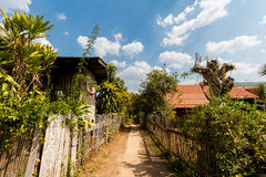 Soppong village in noth Thailand. Beautiful landscape taken in touristic Soppong mountain village in north Thailand. View in south east Asia Stock Images