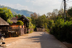 Soppong village in noth Thailand. Beautiful landscape taken in touristic Soppong mountain village in north Thailand. View in south east Asia Royalty Free Stock Images