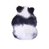 Sopporti il panda Isolato su priorità bassa bianca illustrazione vettoriale