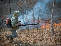Soppressione di incendio forestale 7 Fotografia Stock Libera da Diritti