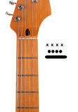Soppressione il collo della chitarra con gli indicatori della corda Immagini Stock Libere da Diritti