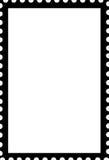 Soppressione il nero aperto del modello del ritratto del bollo su bianco Fotografia Stock