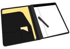 Soppressione il portafoglio aperto su bianco Fotografie Stock Libere da Diritti