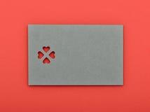Soppressione la carta del biglietto di S. Valentino fotografie stock