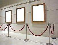 Soppressione la tela di canapa incorniciata in un museo Fotografia Stock