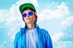 Sopra cielo blu Fotografie Stock