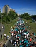 Sopra i corridori di maratona Fotografie Stock