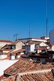 Sopra i tetti del `s di Madrid Immagine Stock