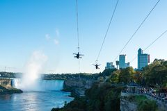 Sopra il cascate del Niagara al tramonto Fotografie Stock