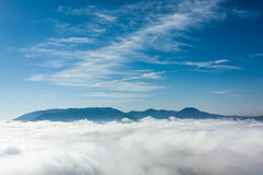 Sopra il clouds2 Immagini Stock Libere da Diritti