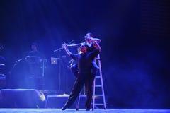 Sopra il dramma di ballo di parete-tango Immagini Stock