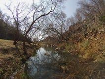 Sopra il fiume in autunno Fotografia Stock Libera da Diritti
