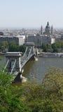 Sopra il ponte a catena Fotografie Stock