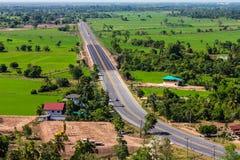 Sopra il trasporto rurale di agricoltura Immagini Stock Libere da Diritti