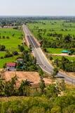 Sopra il trasporto rurale di agricoltura Fotografie Stock Libere da Diritti