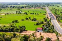 Sopra il trasporto rurale di agricoltura Fotografia Stock Libera da Diritti