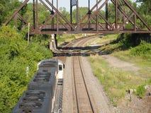 Sopra il treno del carbone Fotografie Stock Libere da Diritti