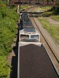 Sopra il treno del carbone Fotografia Stock