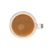 Sopra il vetro di colpo del caffè espresso del od di vista fotografia stock