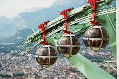 Sopra la città Grenoble. Fotografia Stock Libera da Diritti