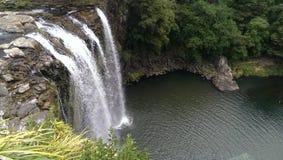 Sopra la grande cascata Fotografie Stock Libere da Diritti