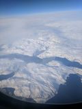 Sopra la Groenlandia Immagini Stock