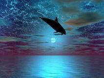 Sopra la luna Fotografie Stock