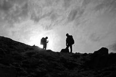 Sopra la montagna Immagini Stock