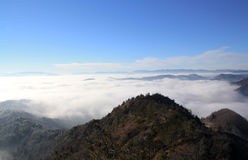 Sopra la nebbia Fotografia Stock Libera da Diritti