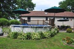 Sopra la piscina al suolo Fotografia Stock