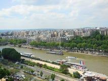 Sopra la torre Eiffel Fotografia Stock Libera da Diritti