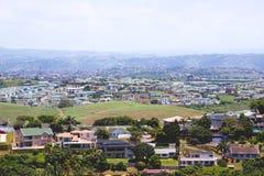 Sopra la vista degli insediamenti residenziali suburbani Fotografia Stock Libera da Diritti